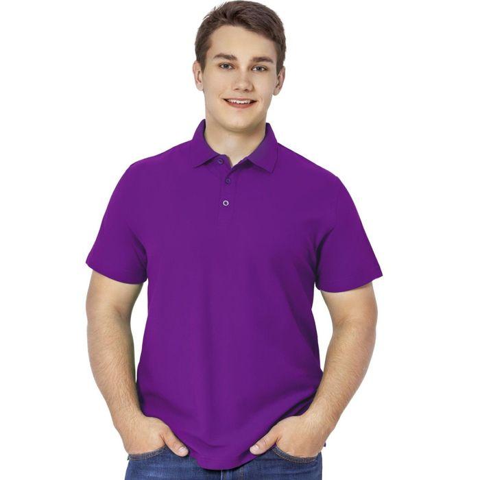 Рубашка-поло мужская StanPremier, размер 48, цвет фиолетовый 185 г/м