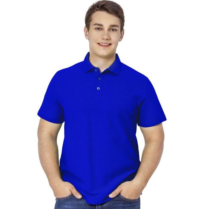 Рубашка-поло мужская StanPremier, размер 48, цвет синий 185 г/м