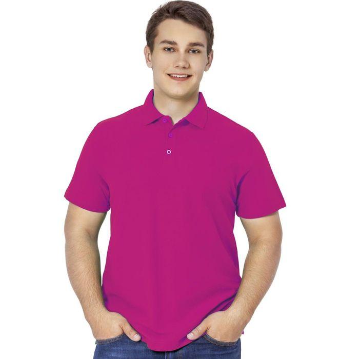 Рубашка-поло мужская StanPremier, размер 44, цвет маджента 185 г/м