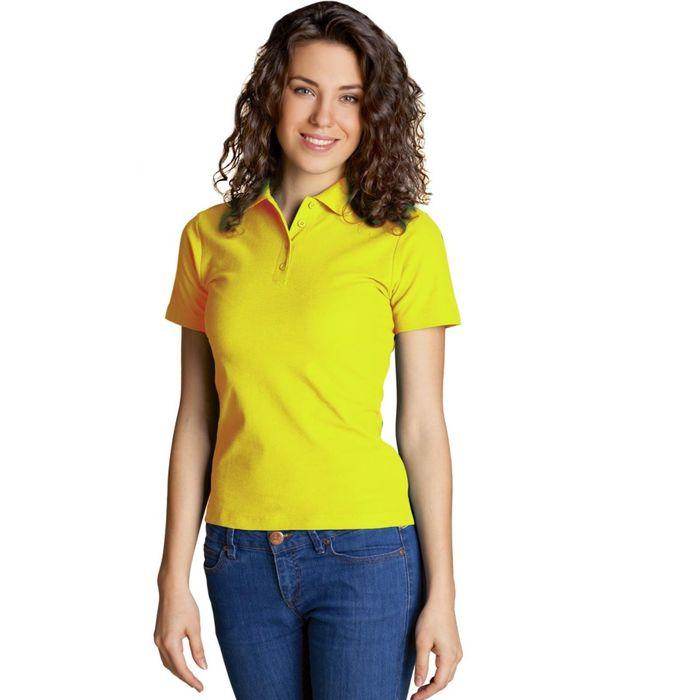 Рубашка-поло женская StanWomen, размер 46, цвет жёлтый 185 г/м