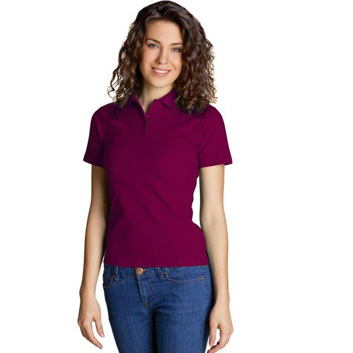 Рубашка-поло женская StanWomen, размер 46, цвет винный 185 г/м