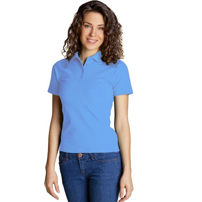 Рубашка-поло женская StanWomen, размер 46, цвет голубой 185 г/м