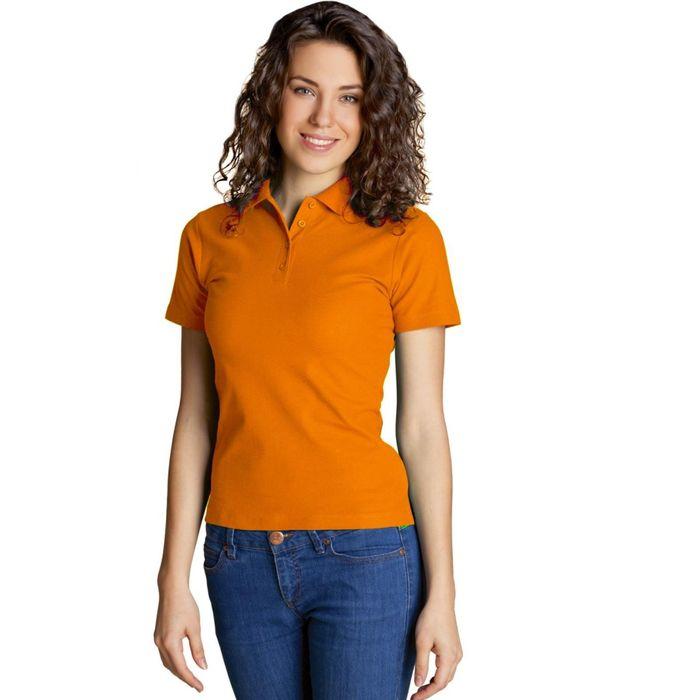 Рубашка-поло женская StanWomen, размер 48, цвет оранжевый 185 г