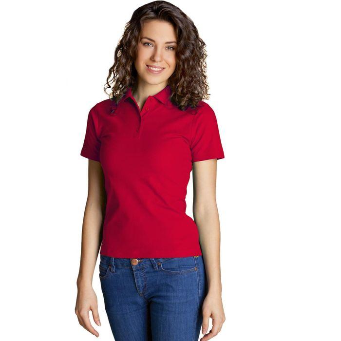 Рубашка-поло женская StanWomen, размер 42, цвет красный 185 г/м