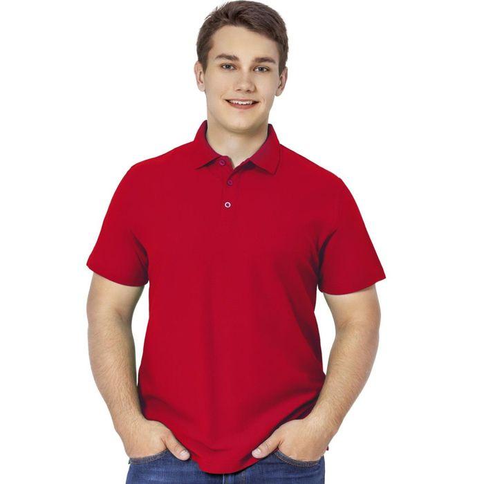 Рубашка-поло мужская StanPremier, размер 44, цвет красный 185 г/м