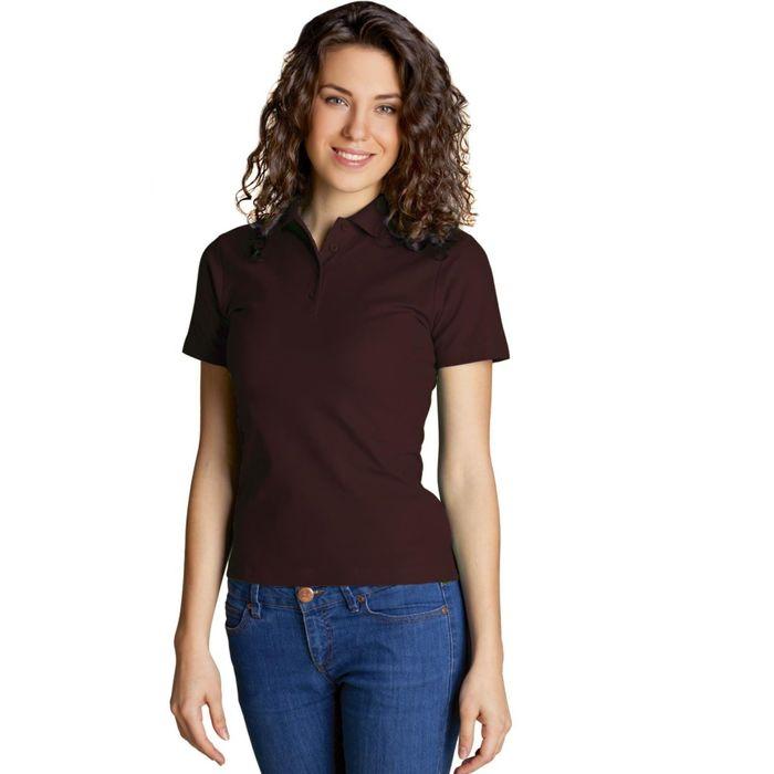 Рубашка-поло женская StanWomen, размер 52, цвет тёмно-шоколадный 185 г/м