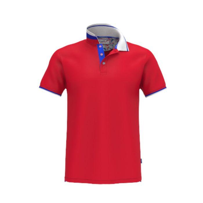 Рубашка-поло мужская PiterBest, размер 44, цвет красный 200 г/ м