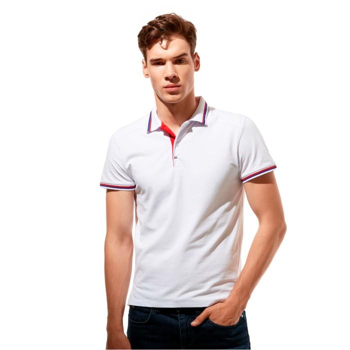 Рубашка-поло StanSalute, размер 50, цвет белый