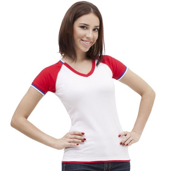 Футболка женская MoscowStyle, размер 50, цвет белый 200 г/м