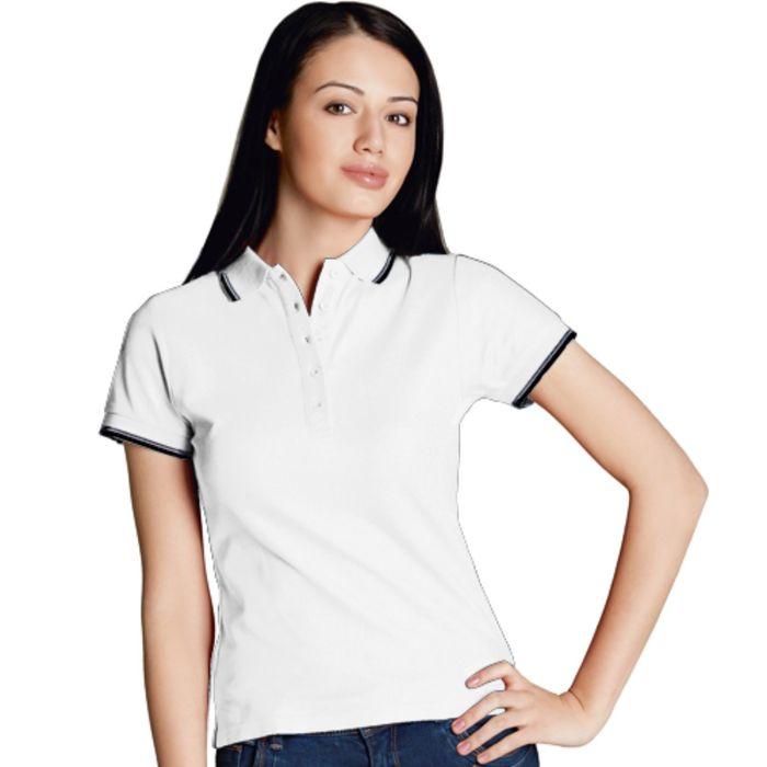 Рубашка-поло женская StanBeauty, размер 42, цвет белый 185 г/м