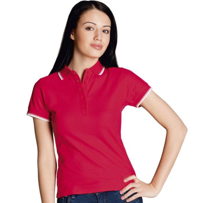 Рубашка-поло женская StanBeauty, размер 50, цвет красный 185 г/м