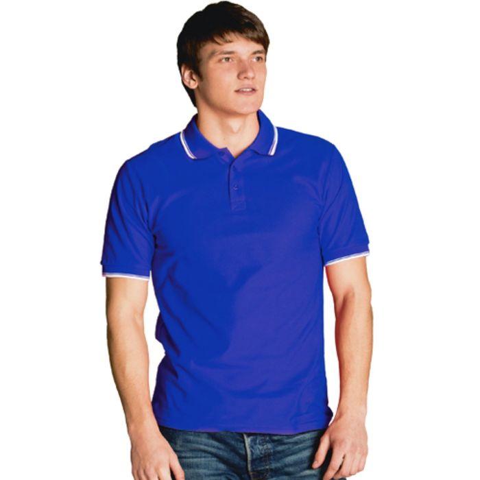 Рубашка-поло мужская StanTrophy, размер 46, цвет синий 185 г/м
