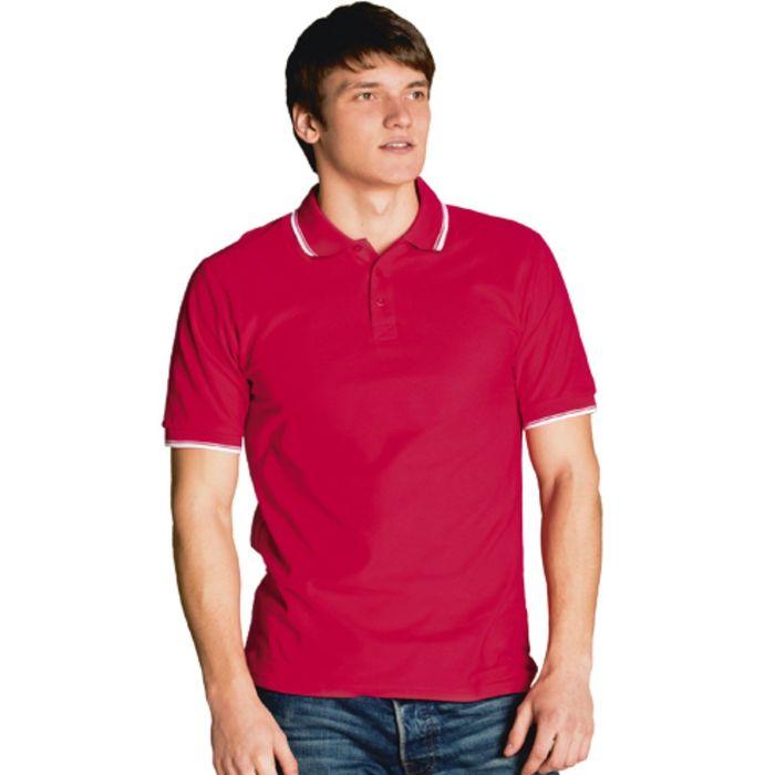 Рубашка-поло мужская StanTrophy, размер 54, цвет красный 185 г/м