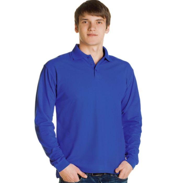 Рубашка-поло мужская StanPolo, размер 52, цвет синий 185 г/м