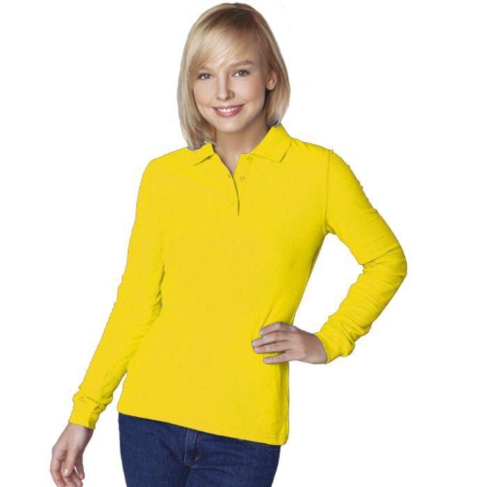 Рубашка-поло женская StanPolo, размер 44, цвет жёлтый 185 г/м
