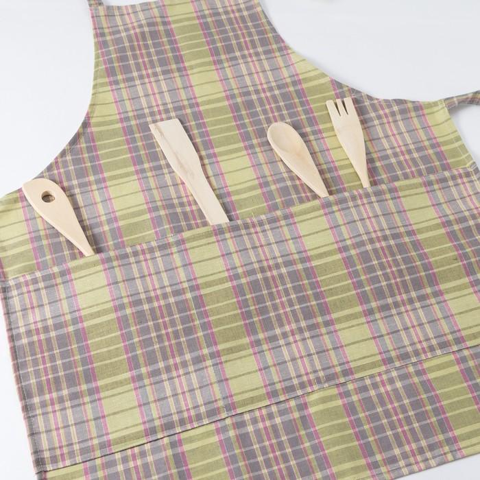 Фартук Этель «Аделаида» 60×70 см с карманом, полулён, 50% хлопок, 50% лён