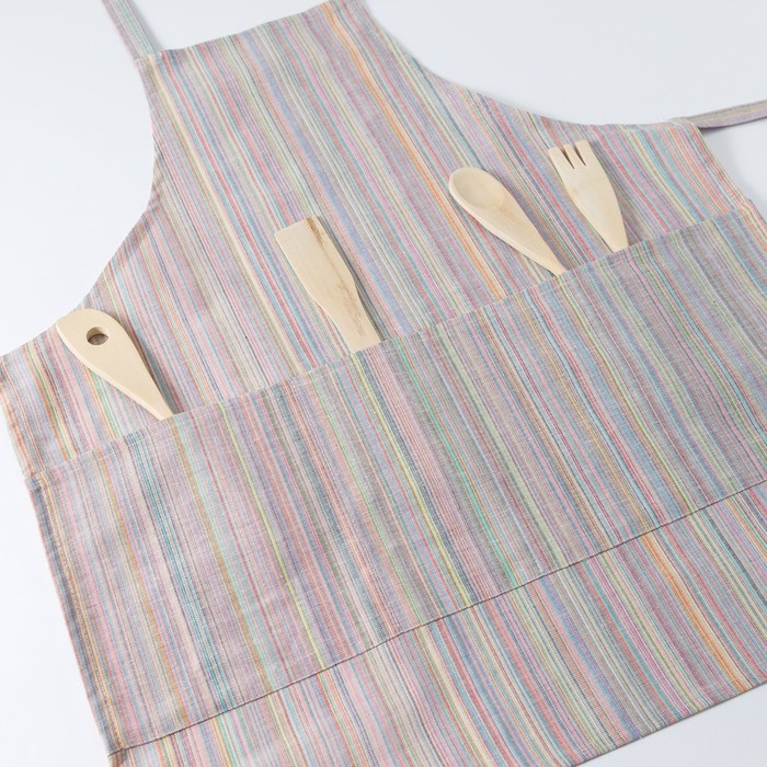 Фартук Этель «Одет» 60×70 см с карманом, полулён, 50% хлопок, 50% лён