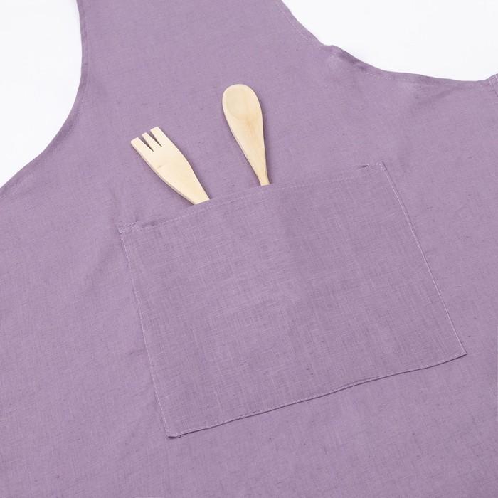 Фартук Этель «Ариан» 60×90 см с карманом, полулён, 50% хлопок, 50% лён