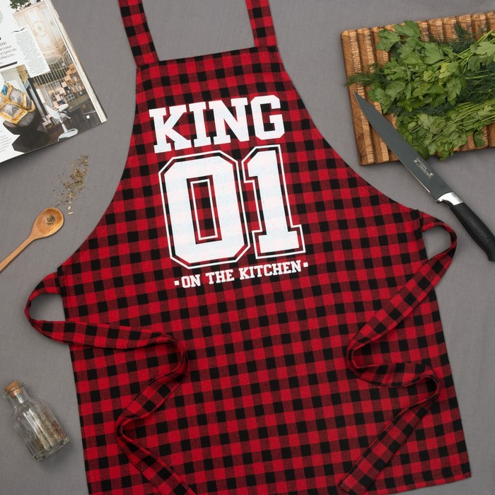 """Фартук мужской """"Король кухни"""" 77х75 см, 100% хлопок"""