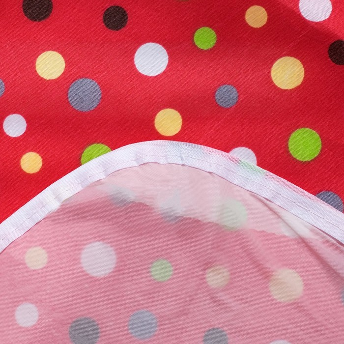 Фартук Хозяюшка цв.красный, 45х65 см, 100% п/э, клеен.подклад