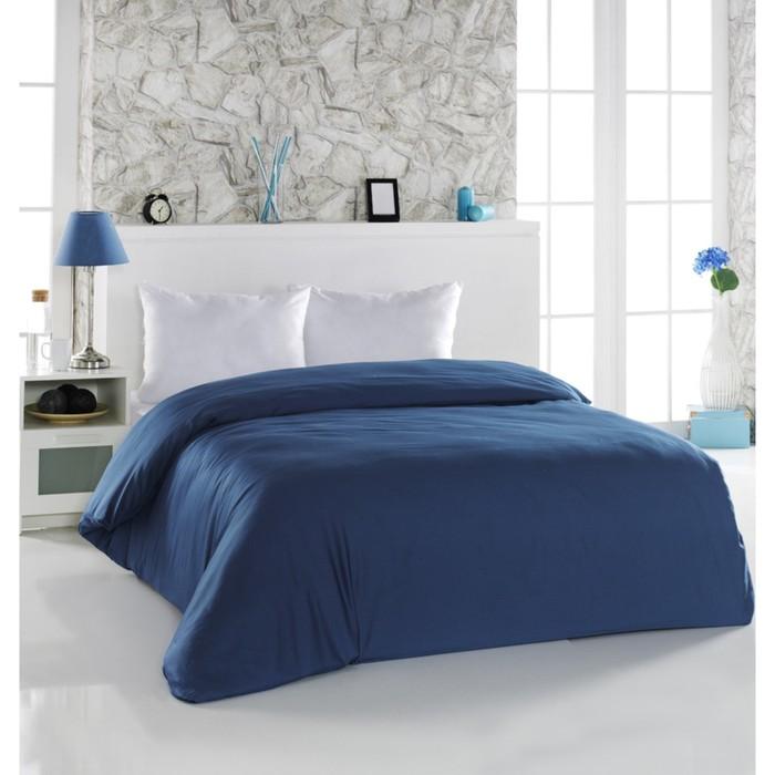 Пододеяльник Servan, размер 200х220 см, цвет синий, сатин 120 г/м2 220/8
