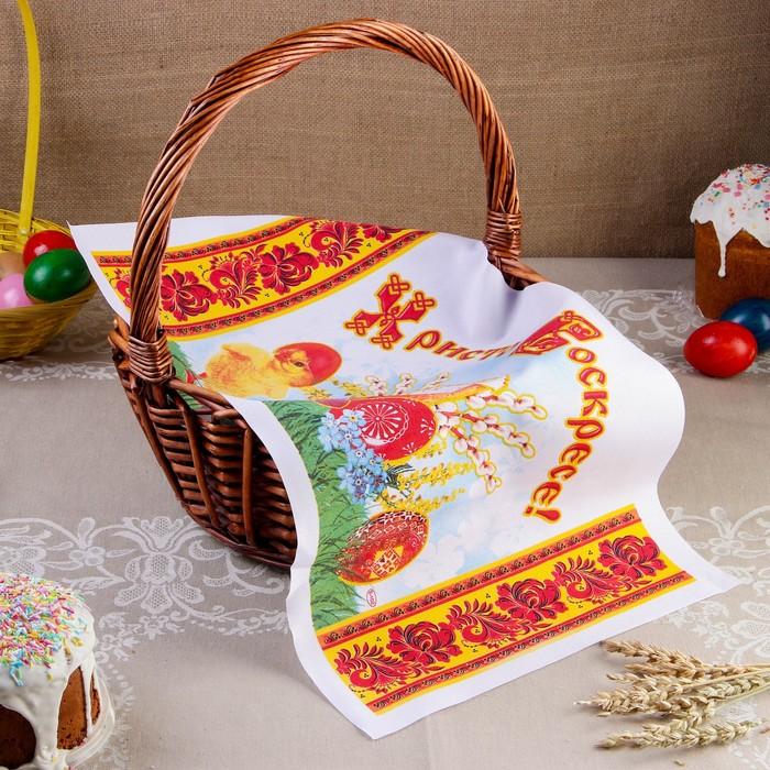 """Рушник пасхальный """"Цыпленок"""", 65 × 30 см"""
