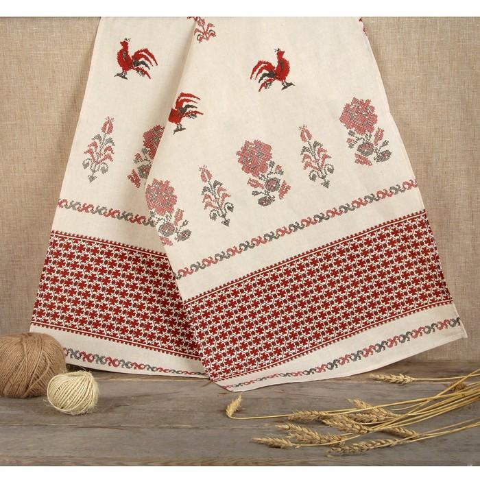 Рушник льняной «Птица» 150 х 36