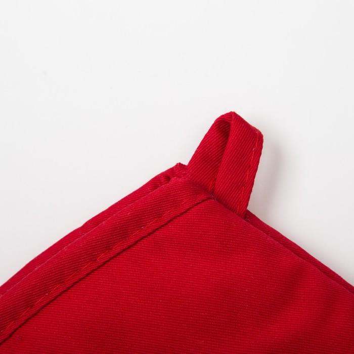 """Варежка Доляна """"Профи260"""" цв.красный, 18х33 см, 100% п/э, силикон"""