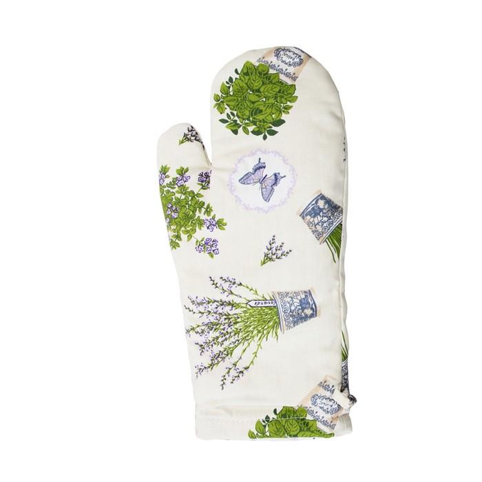 Прихватка-рукавица «Лаванда» удлинённая, размер 14 × 38 см