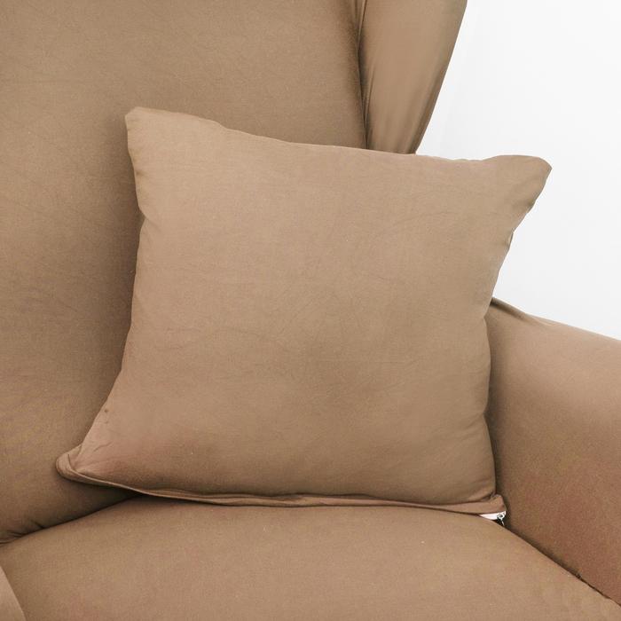 Чехол для мягкой мебели Collorista,3-х местный диван,наволочка 40*40 см в ПОДАРОК,бежевый