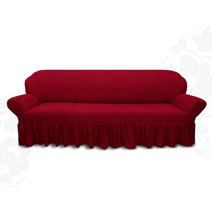 Чехол для мягкой мебели диван 3-х местный 6055, трикотаж, 100% п/э, упаковка микс