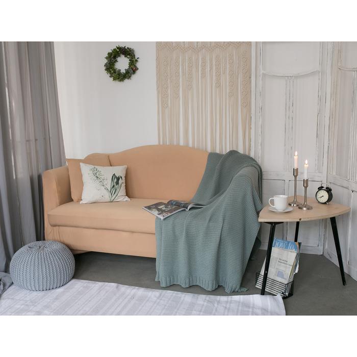 Чехол для мягкой мебели Collorista,4-х местный диван,наволочка 40*40 см в ПОДАРОК,бежевый