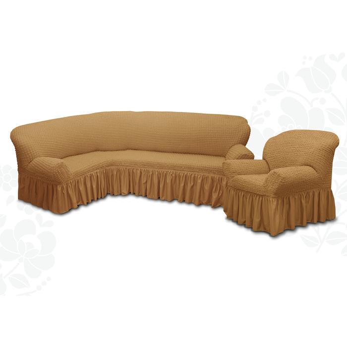 Чехол для мягкой мебели 2пред диван угловой, кресло 6083, трикот, 100%пэ, упаковка микс