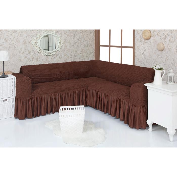 Чехол д/мягкой мебели Угловой 1 пр. (3 местный ) VENERA , цвет 01, трикотаж п/э100%