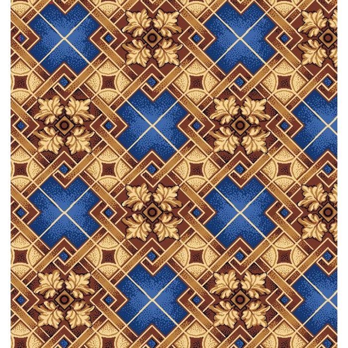 Ковер Паркет, размер 200х300 см, цвет синий, войлок 195 г/м
