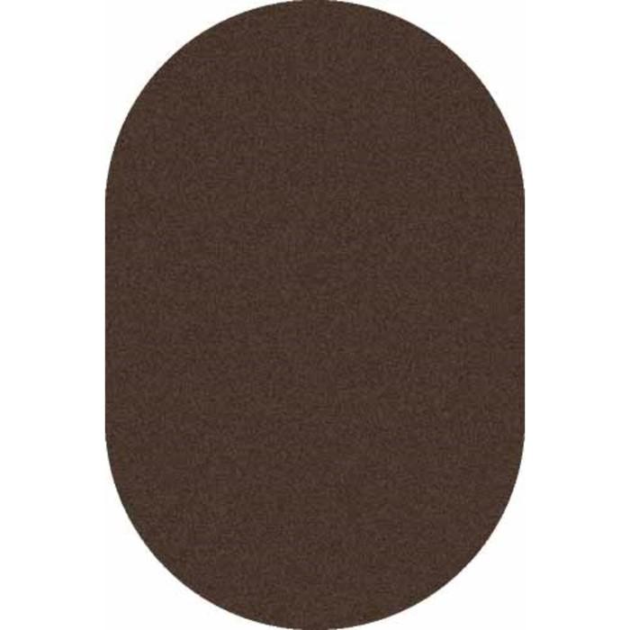 Ковёр Фризе ПП PLATINUM t600, 1 × 2 м, овал, BROWN