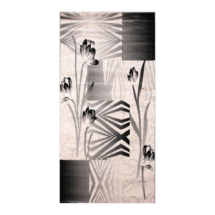 Ковёр Omega Carving  8398 BONE/D.GREY 1.0*2.0 м, прямоугольный