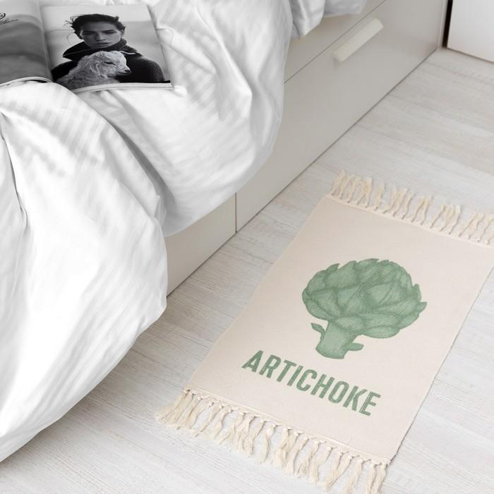"Коврик ""Artichoke"" 70х45 см, 50% хл, 50% п/э"