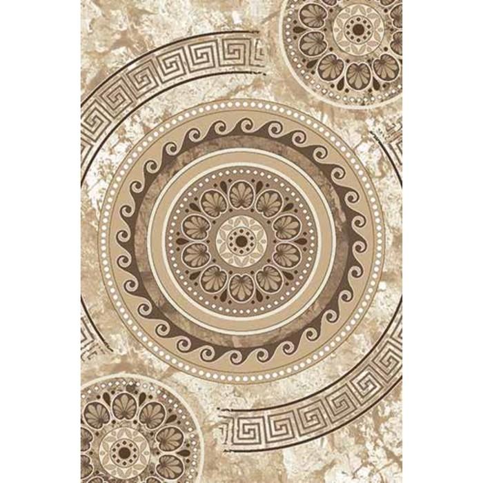 Ковёр Хит-Сет ПП VALENCIA DELUXE d300, 1,5*3 м, прямоугольный, CREAM-BROWN