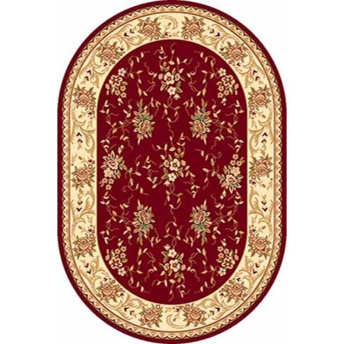 Ковёр Хит-Сет ПП VALENCIA 5455, 1,5*4 м, овальный, RED