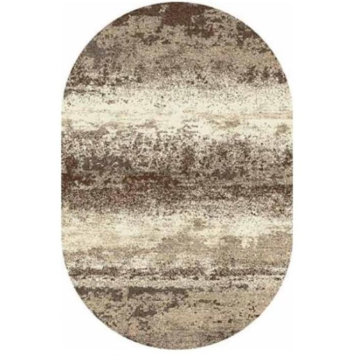 Ковёр Фризе ПП SUNRISE 2 D450, 2*4 м, овальный, GRAY-BEIGE
