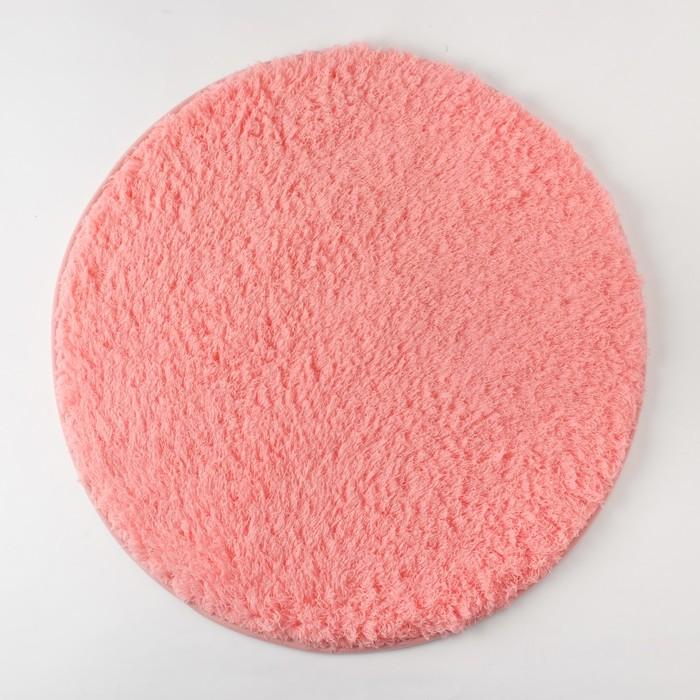 Ковёр «Этель» Lama, цвет коралловый, диаметр 60 см, 100% п/э