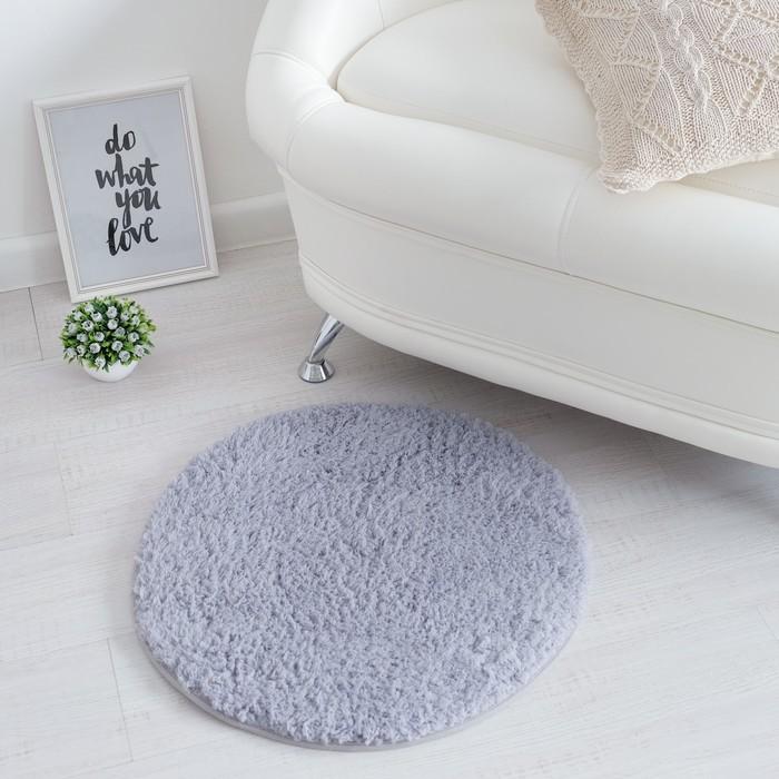 Ковёр «Этель» Lama, цвет серый, диаметр 60 см, 100% п/э