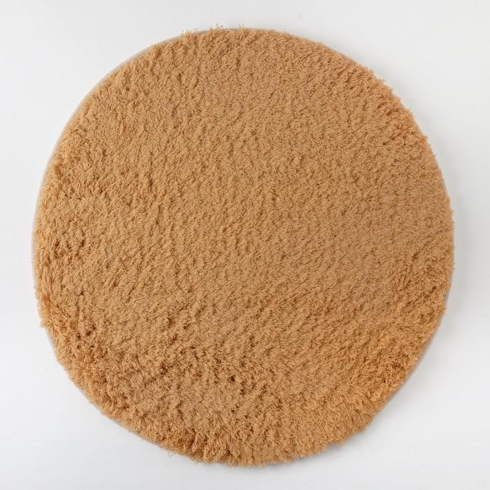 Ковёр «Этель» Lama, цвет темно-бежевый, диаметр 60 см, 100% п/э