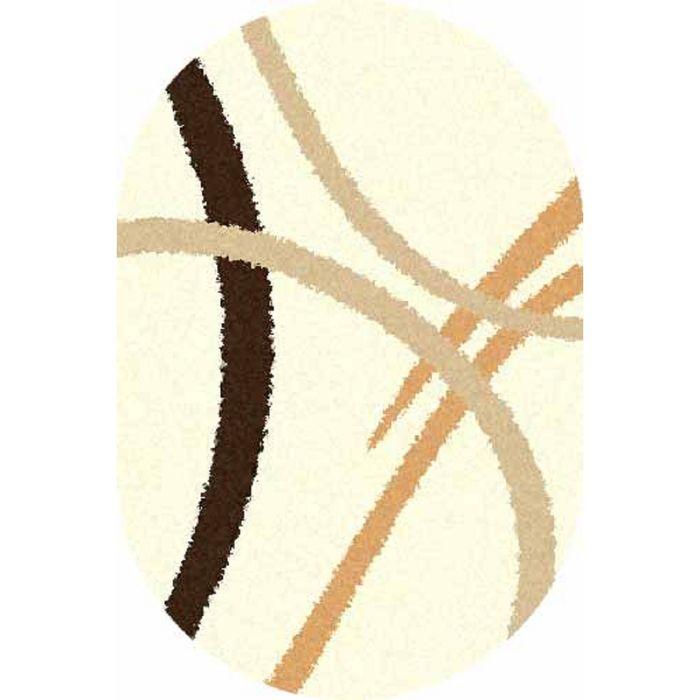 Ковёр SHAGGY ULTRA s606, 1,5*5 м, овал, CREAM