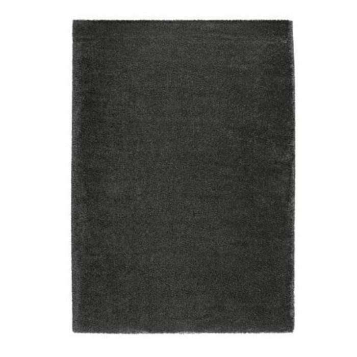 Ковёр ОДУМ, размер 170х240 см, длинный ворс, цвет тёмно-серый