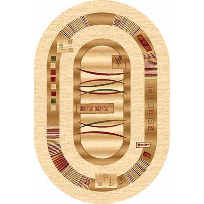 Ковер Heat-set DA VINCI d025, 2,5*4 м, овал, CREAM