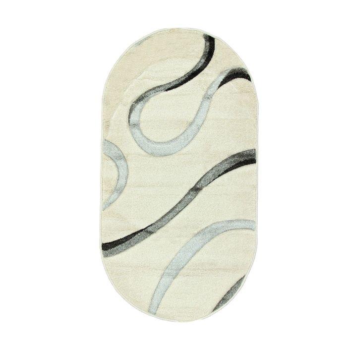 Ковёр Rio Carving 223 CREAM/CREAM 2.5*3.5 м, овал