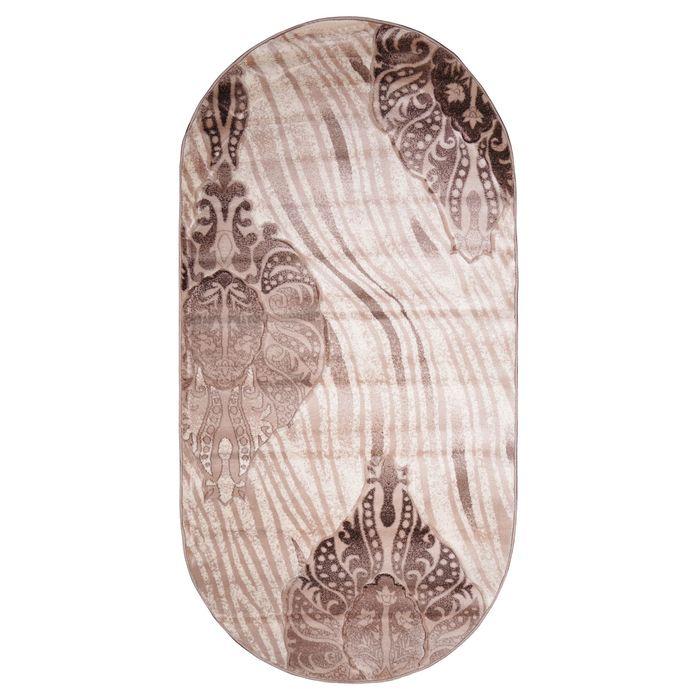 Ковёр Beluga Carving 9594 BONE/D.BROWN 3.0*4.0 м, овал