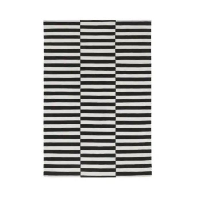 Ковёр СТОКГОЛЬМ, размер 170х240 см, безворсовый, цвет черный/белый